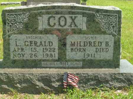 COX, MILDRED B. - Boone County, Arkansas   MILDRED B. COX - Arkansas Gravestone Photos