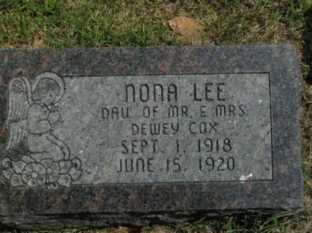 COX, NONA LEE - Boone County, Arkansas | NONA LEE COX - Arkansas Gravestone Photos