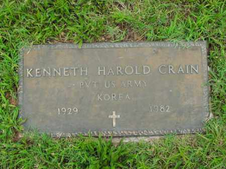CRAIN  (VETERAN KOR), KENNETH HAROLD - Boone County, Arkansas | KENNETH HAROLD CRAIN  (VETERAN KOR) - Arkansas Gravestone Photos