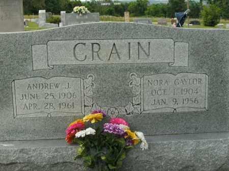 CRAIN, ANDREW J. - Boone County, Arkansas   ANDREW J. CRAIN - Arkansas Gravestone Photos