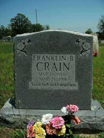 CRAIN, FRANKLIN B. - Boone County, Arkansas | FRANKLIN B. CRAIN - Arkansas Gravestone Photos