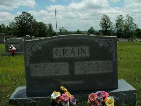 CRAIN, MOLLIE LAURA - Boone County, Arkansas | MOLLIE LAURA CRAIN - Arkansas Gravestone Photos
