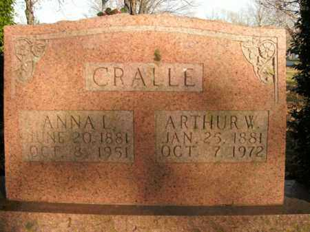 CRALLE, ANNA L. - Boone County, Arkansas | ANNA L. CRALLE - Arkansas Gravestone Photos