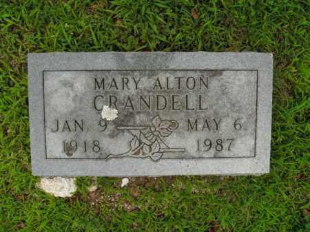 CRANDELL, MARY ALTON - Boone County, Arkansas | MARY ALTON CRANDELL - Arkansas Gravestone Photos