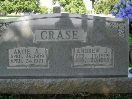 CRASE, ARTIE A. - Boone County, Arkansas   ARTIE A. CRASE - Arkansas Gravestone Photos