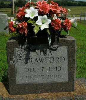 CRAWFORD, NINA - Boone County, Arkansas   NINA CRAWFORD - Arkansas Gravestone Photos