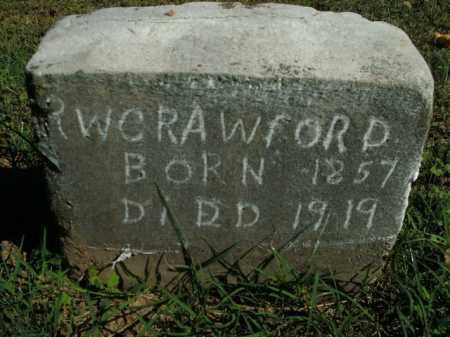 CRAWFORD, R.W. - Boone County, Arkansas   R.W. CRAWFORD - Arkansas Gravestone Photos