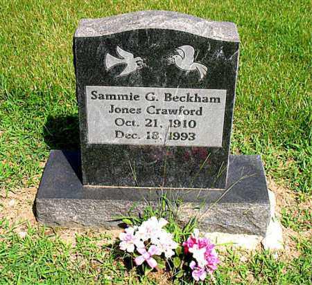 BECKHAM CRAWFORD, SAMMIE G. - Boone County, Arkansas | SAMMIE G. BECKHAM CRAWFORD - Arkansas Gravestone Photos