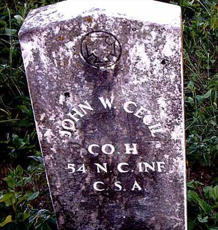 CECIL  (VETERAN CSA), JOHN W. - Boone County, Arkansas   JOHN W. CECIL  (VETERAN CSA) - Arkansas Gravestone Photos