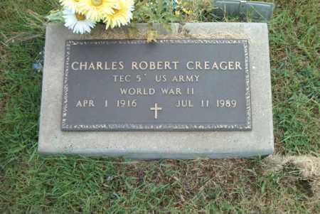 CREAGER  (VETERAN WWII), CHARLES ROBERT - Boone County, Arkansas | CHARLES ROBERT CREAGER  (VETERAN WWII) - Arkansas Gravestone Photos