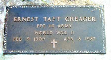 CREAGER  (VETERAN WWII), ERNEST TAFT - Boone County, Arkansas   ERNEST TAFT CREAGER  (VETERAN WWII) - Arkansas Gravestone Photos