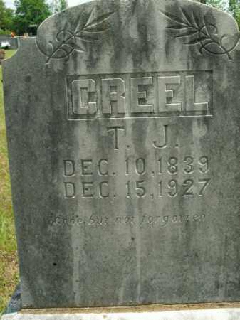 CREEL  (VETERAN CSA), THOMAS J - Boone County, Arkansas   THOMAS J CREEL  (VETERAN CSA) - Arkansas Gravestone Photos