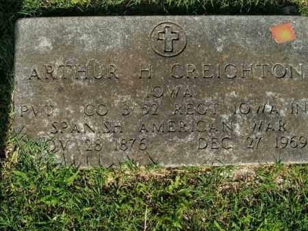 CREIGHTON  (VETERAN SAW), ARTHUR H. - Boone County, Arkansas | ARTHUR H. CREIGHTON  (VETERAN SAW) - Arkansas Gravestone Photos