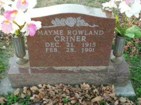 CRINER, MAYME - Boone County, Arkansas | MAYME CRINER - Arkansas Gravestone Photos