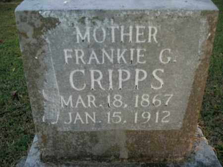RIDDLE CRIPPS, FRANKIE G. - Boone County, Arkansas | FRANKIE G. RIDDLE CRIPPS - Arkansas Gravestone Photos