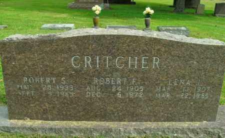 CRITCHER, ROBERT F. - Boone County, Arkansas | ROBERT F. CRITCHER - Arkansas Gravestone Photos
