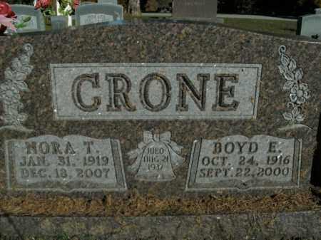 CRONE, BOYD E. - Boone County, Arkansas | BOYD E. CRONE - Arkansas Gravestone Photos