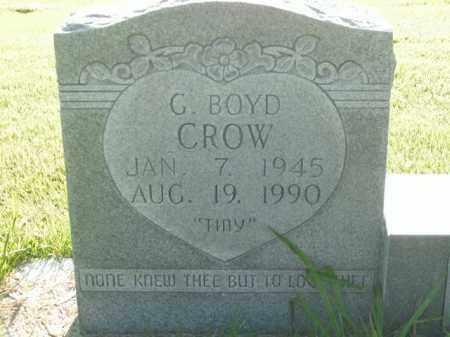 CROW, G. BOYD - Boone County, Arkansas | G. BOYD CROW - Arkansas Gravestone Photos