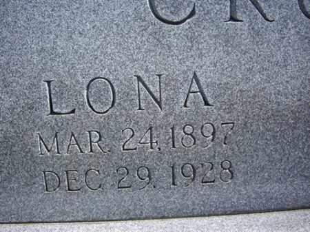 CHAFFER CROW, LONA - Boone County, Arkansas | LONA CHAFFER CROW - Arkansas Gravestone Photos