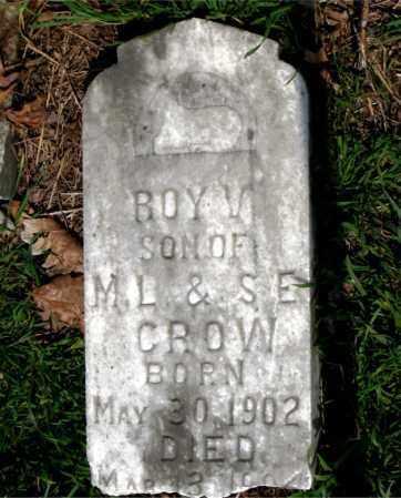CROW, ROY V. - Boone County, Arkansas   ROY V. CROW - Arkansas Gravestone Photos