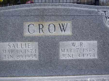 CROW, SALLIE - Boone County, Arkansas | SALLIE CROW - Arkansas Gravestone Photos