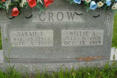 CROW, WILLIE A. - Boone County, Arkansas | WILLIE A. CROW - Arkansas Gravestone Photos
