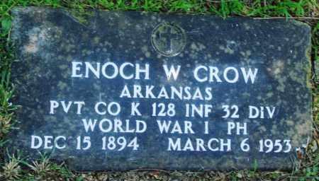 CROW (VETERAN WWI), ENOCH W - Boone County, Arkansas | ENOCH W CROW (VETERAN WWI) - Arkansas Gravestone Photos