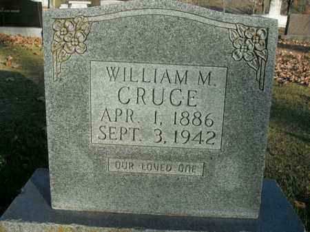 CRUCE, WILLIAM M. - Boone County, Arkansas   WILLIAM M. CRUCE - Arkansas Gravestone Photos