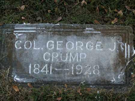 CRUMP  (VETERAN 2 WARS), GEORGE J - Boone County, Arkansas | GEORGE J CRUMP  (VETERAN 2 WARS) - Arkansas Gravestone Photos