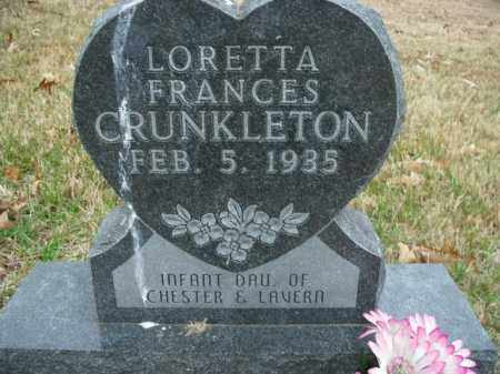 CRUNKLETON, LORETTA FRANCES - Boone County, Arkansas   LORETTA FRANCES CRUNKLETON - Arkansas Gravestone Photos
