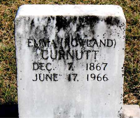 ROWLAND CURNUTT, EMMA - Boone County, Arkansas   EMMA ROWLAND CURNUTT - Arkansas Gravestone Photos