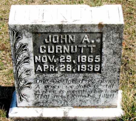CURNUTT, JOHN A. - Boone County, Arkansas | JOHN A. CURNUTT - Arkansas Gravestone Photos
