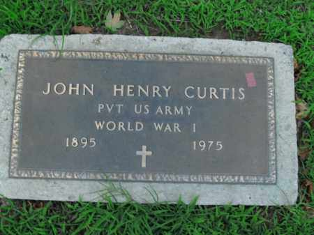 CURTIS  (VETERAN WWI), JOHN HENRY - Boone County, Arkansas | JOHN HENRY CURTIS  (VETERAN WWI) - Arkansas Gravestone Photos