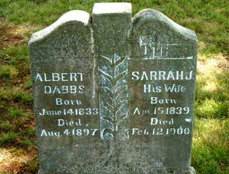 DABBS, ALBERT - Boone County, Arkansas | ALBERT DABBS - Arkansas Gravestone Photos