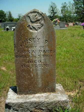 DABBS, JOSEY F. - Boone County, Arkansas | JOSEY F. DABBS - Arkansas Gravestone Photos