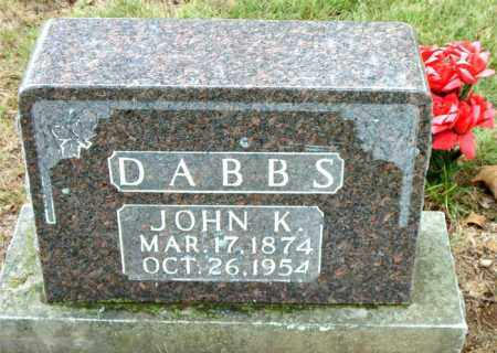 DABBS, JOHN  K. - Boone County, Arkansas | JOHN  K. DABBS - Arkansas Gravestone Photos