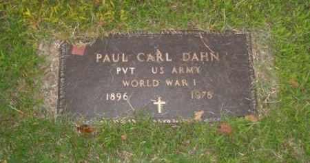 DAHN  (VETERAN WWI), PAUL CARL - Boone County, Arkansas | PAUL CARL DAHN  (VETERAN WWI) - Arkansas Gravestone Photos