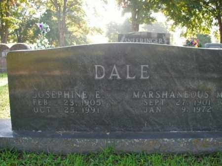 DALE, JOSEPHINE E. - Boone County, Arkansas | JOSEPHINE E. DALE - Arkansas Gravestone Photos
