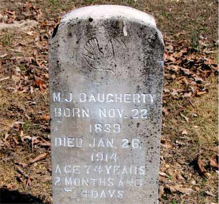 DAUGHERTY, M. J. - Boone County, Arkansas   M. J. DAUGHERTY - Arkansas Gravestone Photos