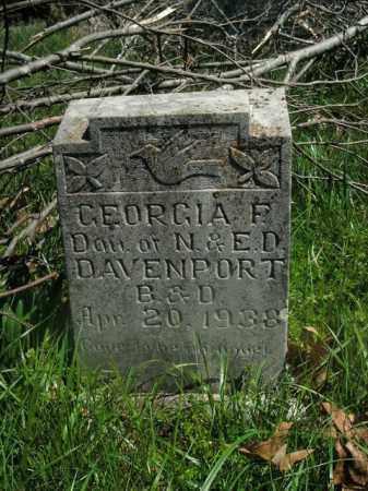DAVENPORT, GEORGIA F. - Boone County, Arkansas | GEORGIA F. DAVENPORT - Arkansas Gravestone Photos