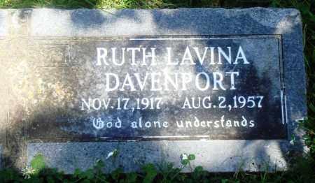 DAVENPORT, RUTH LAVINA - Boone County, Arkansas   RUTH LAVINA DAVENPORT - Arkansas Gravestone Photos