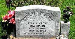 CROW DAVIDSON, ELLA A. - Boone County, Arkansas | ELLA A. CROW DAVIDSON - Arkansas Gravestone Photos
