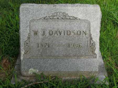 DAVIDSON, W.J. - Boone County, Arkansas | W.J. DAVIDSON - Arkansas Gravestone Photos