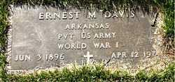 DAVIS  (VETERAN WWI), ERNEST M. - Boone County, Arkansas | ERNEST M. DAVIS  (VETERAN WWI) - Arkansas Gravestone Photos