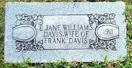 DAVIS, E.  JANE - Boone County, Arkansas | E.  JANE DAVIS - Arkansas Gravestone Photos