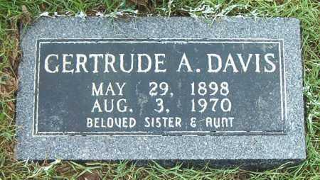 DAVIS, GERTRUDE  A - Boone County, Arkansas | GERTRUDE  A DAVIS - Arkansas Gravestone Photos