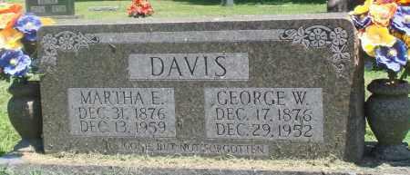 DAVIS, MARTHA E - Boone County, Arkansas | MARTHA E DAVIS - Arkansas Gravestone Photos