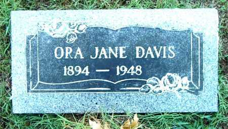 DAVIS, ORA JANE - Boone County, Arkansas   ORA JANE DAVIS - Arkansas Gravestone Photos