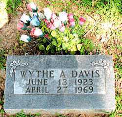 DAVIS, WYTHE A. - Boone County, Arkansas | WYTHE A. DAVIS - Arkansas Gravestone Photos