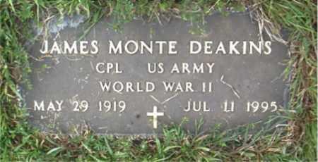 DEAKINS  (VETERAN WWII), JAMES MONTE - Boone County, Arkansas | JAMES MONTE DEAKINS  (VETERAN WWII) - Arkansas Gravestone Photos